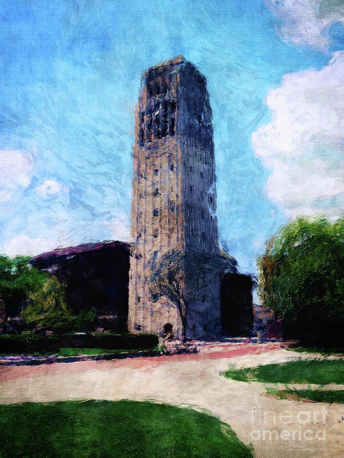 Ann Arbor Digital Art - Clock Tower by Phil Perkins