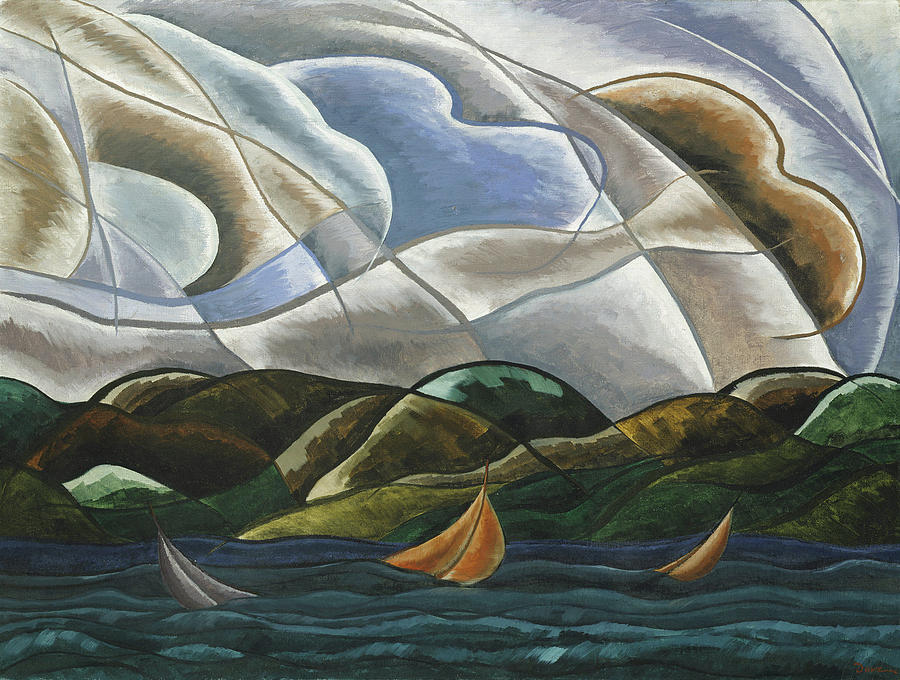 Arthur Dove Painting - Clouds And Water by Arthur Dove
