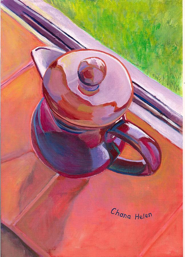 Still Life Painting - #2 Coffee Pot by Chana Helen Rosenberg