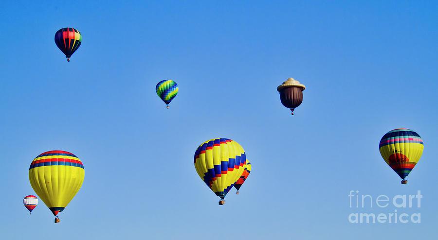 Hot Air Ballons Photograph - Color Sky by Arthur Bohlmann
