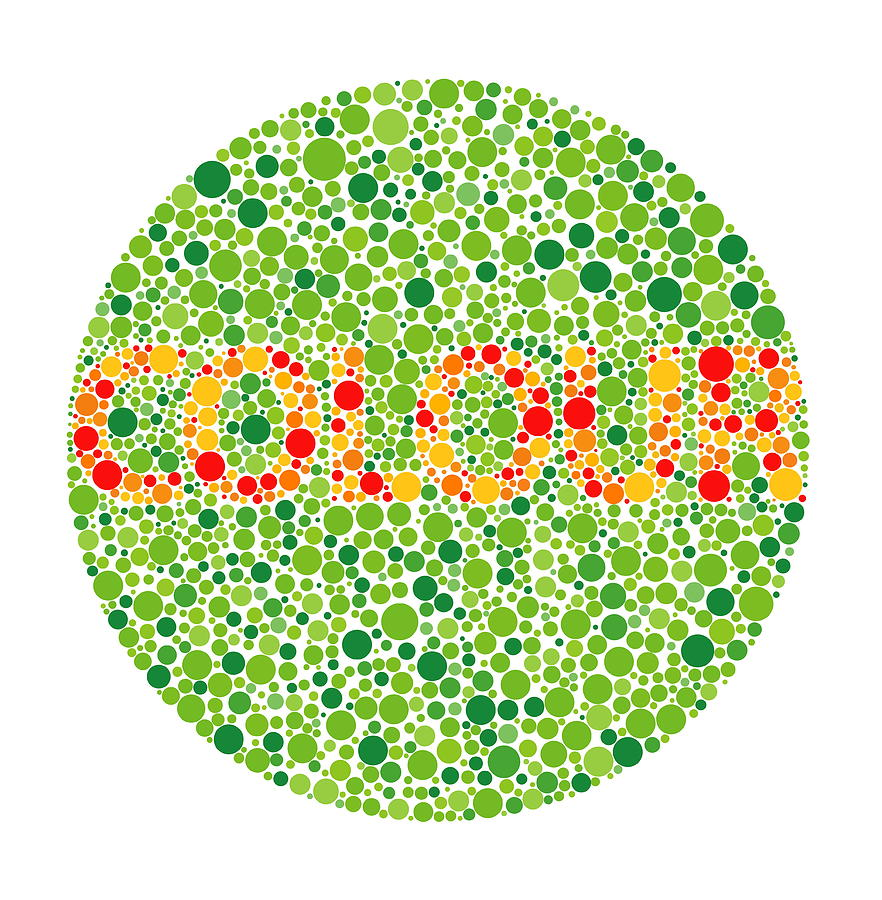 Plate Photograph - Colour Blindness Test by David Nicholls