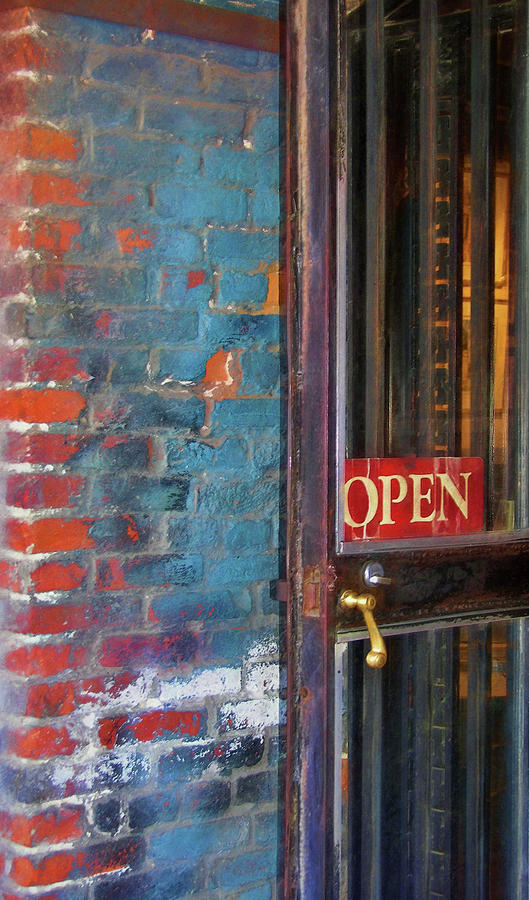Store Photograph - Come On In, Were Open by JAMART Photography