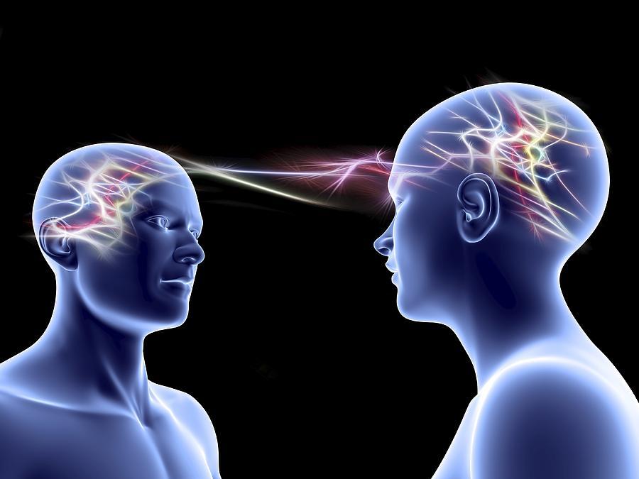 Brain Photograph - Communication, Conceptual Artwork by Pasieka