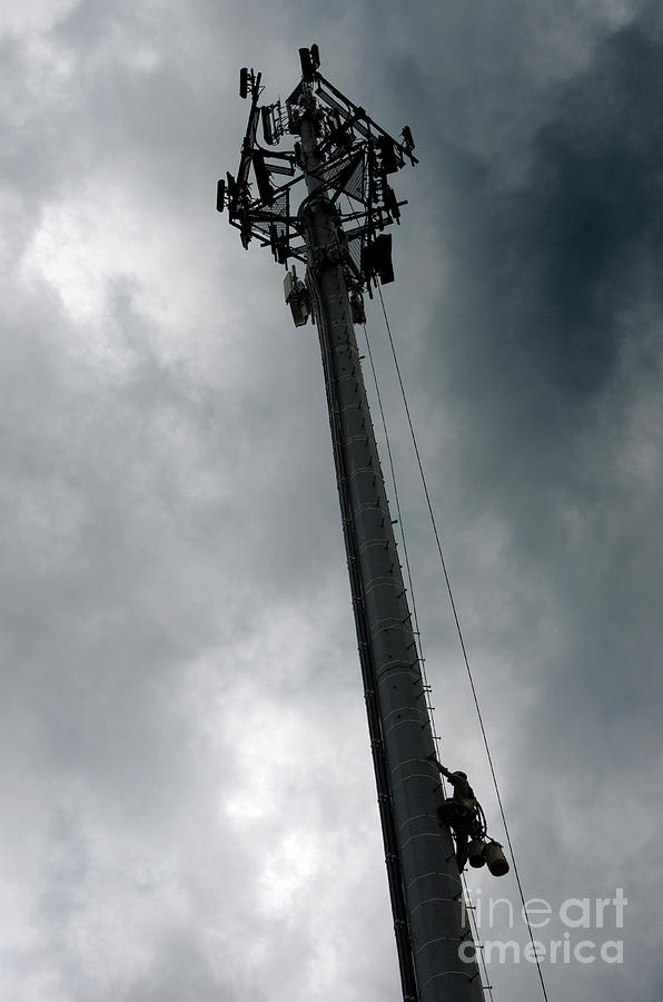 Cellular Tower Photograph - Communications Tower by Craig McCausland