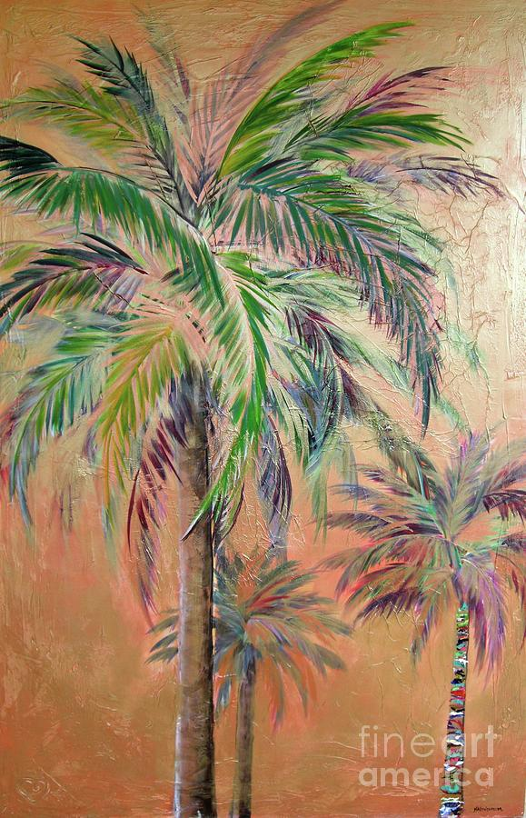 Copper Trio of Palms by Kristen Abrahamson
