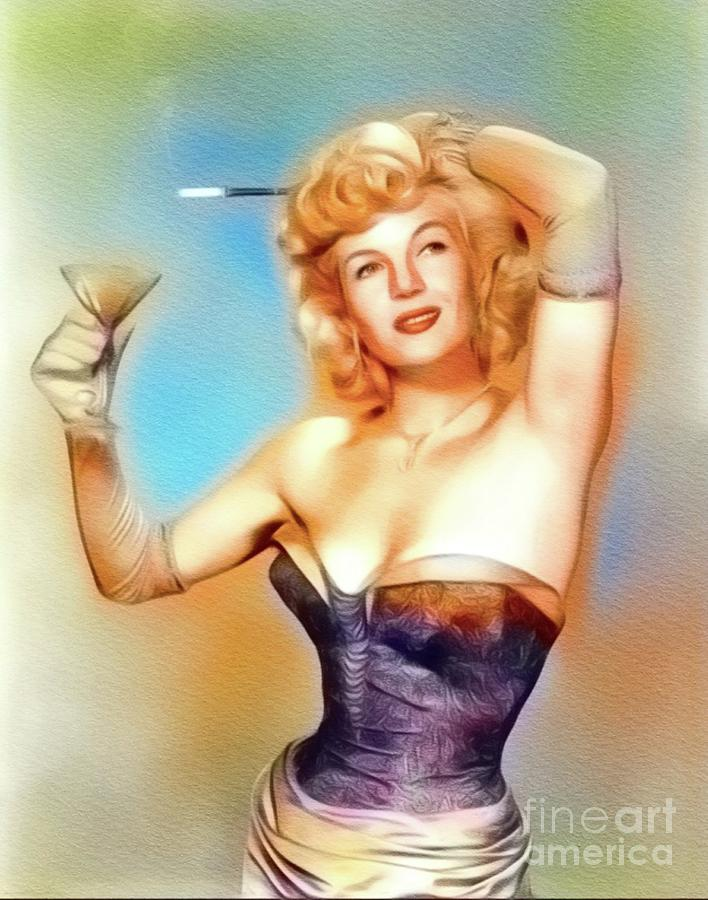 Corinne Calvet, Vintage Movie Star Painting