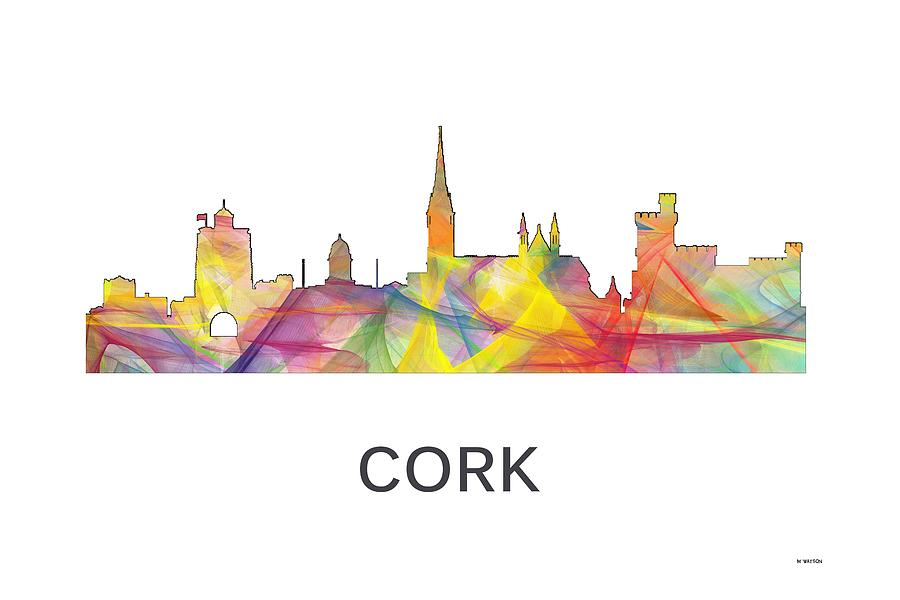 Ireland Digital Art - Cork Ireland Skyline by Marlene Watson