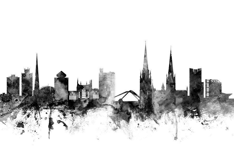 Coventry England Skyline Digital Art By Michael Tompsett