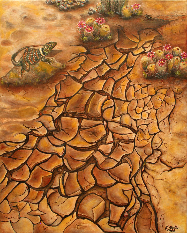 Mud Painting - Crackin Up by Kathy Shute