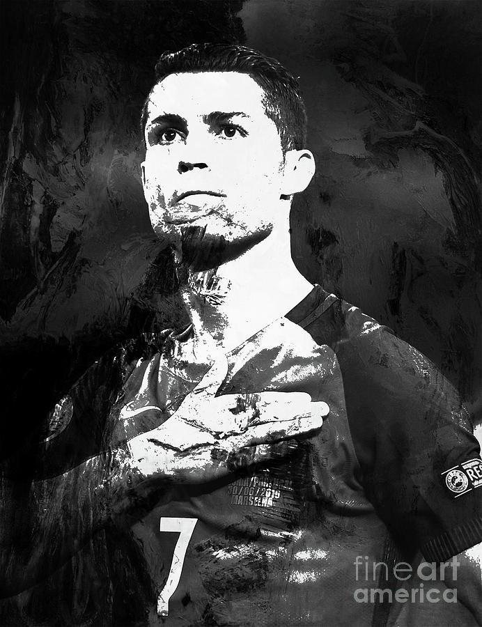 Cristiano Ronaldo Painting - Cristiano Ronaldo Oki by Gull G