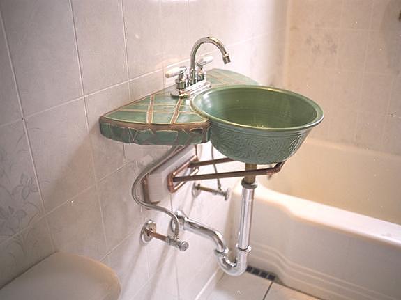 Custom Sink Ceramic Art by Kreg Owens