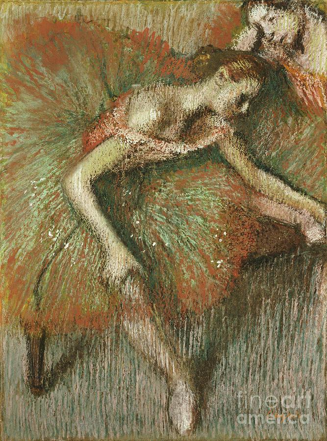 Dancers Painting - Dancers by Edgar Degas
