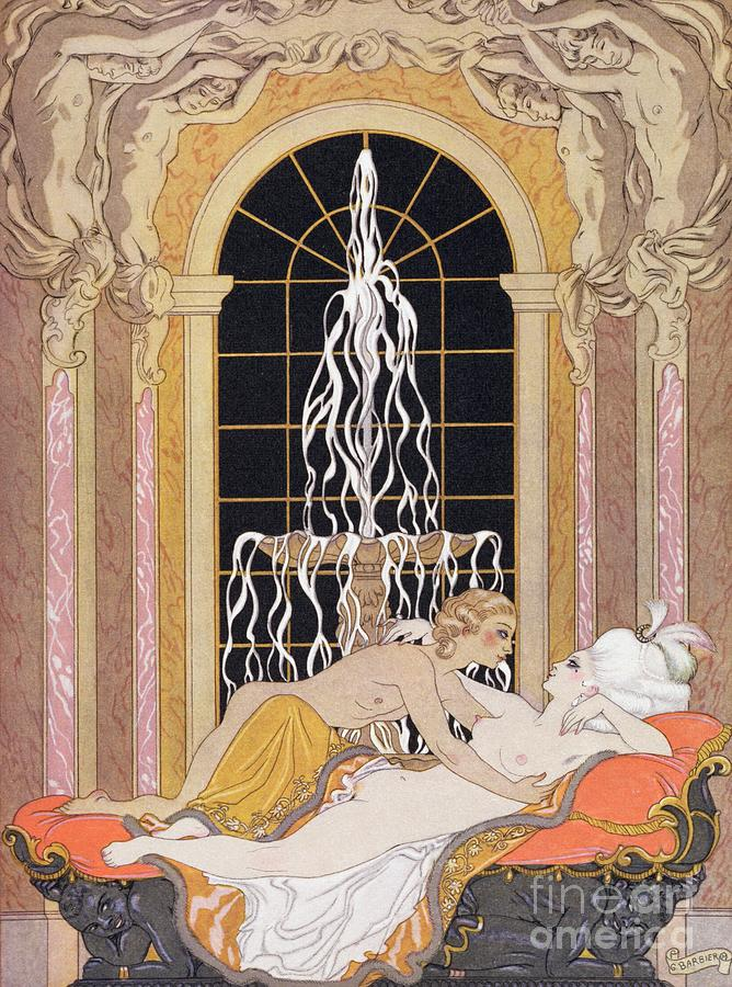 Barbier Painting - Dangerous Liaisons by Georges Barbier