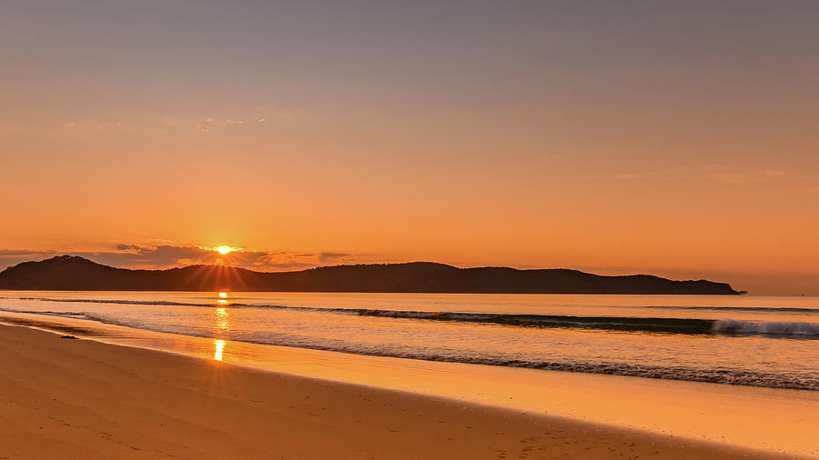 Umina Photograph - Dawn Seascape With Clouds by Merrillie Redden