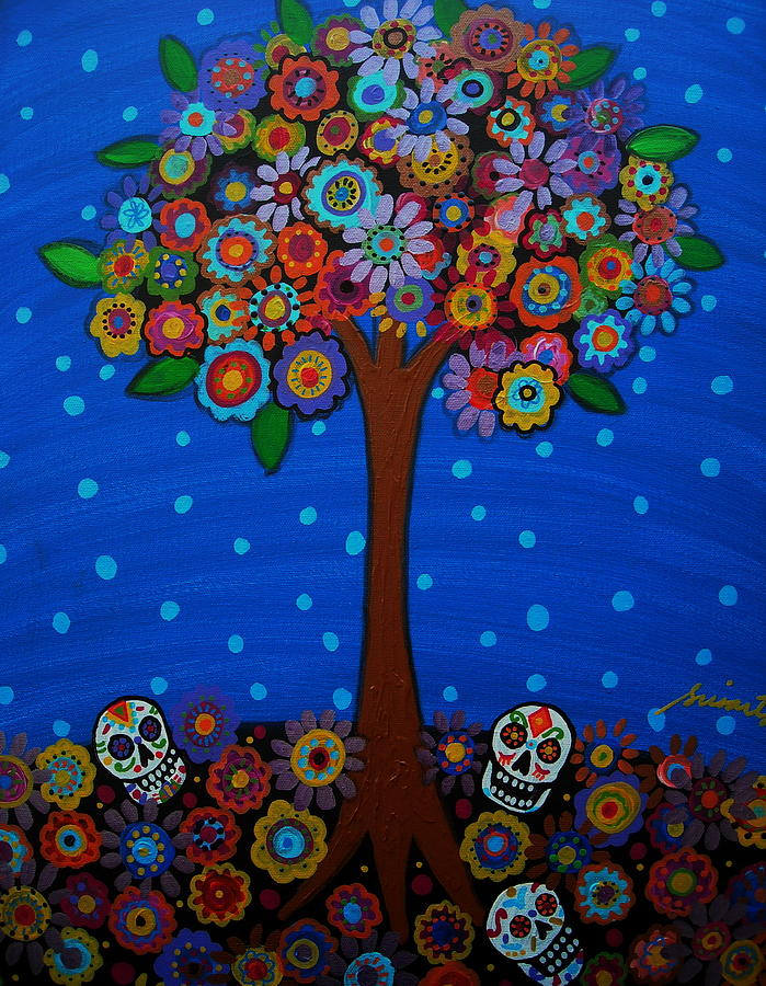Day Of The Dead Painting - Day Of The Dead by Pristine Cartera Turkus