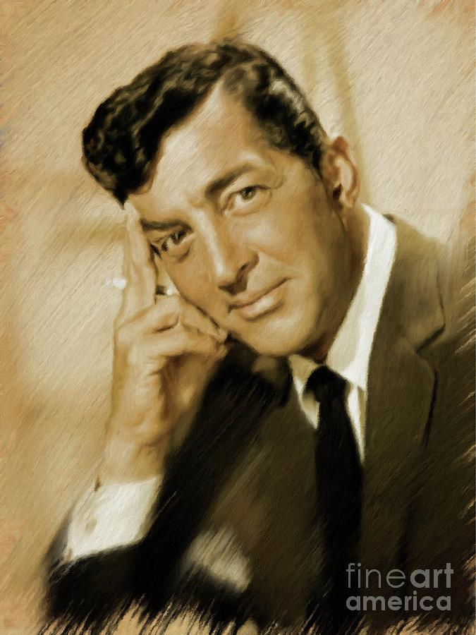 Dean Painting - Dean Martin, Actor, Crooner by Mary Bassett