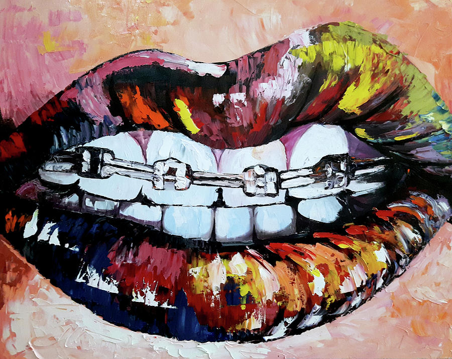 Dental Art And Drawing Painting Mouth Smiling Painting By Sokhom Sim