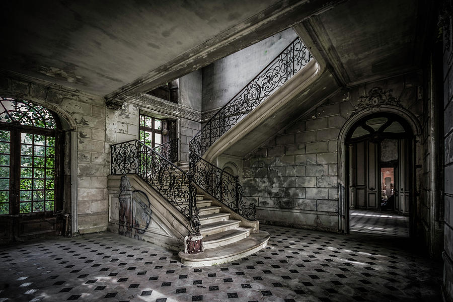 Chateau Photograph - Derelict French Chateau by Alan Duggan