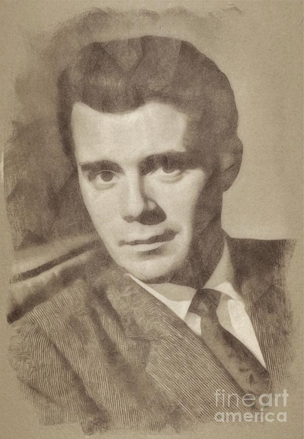 Dirk Bogarde, Vintage Actor Drawing