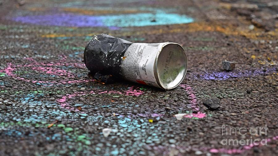 May Photograph - Discarded Spray Paint Can by Ben Schumin