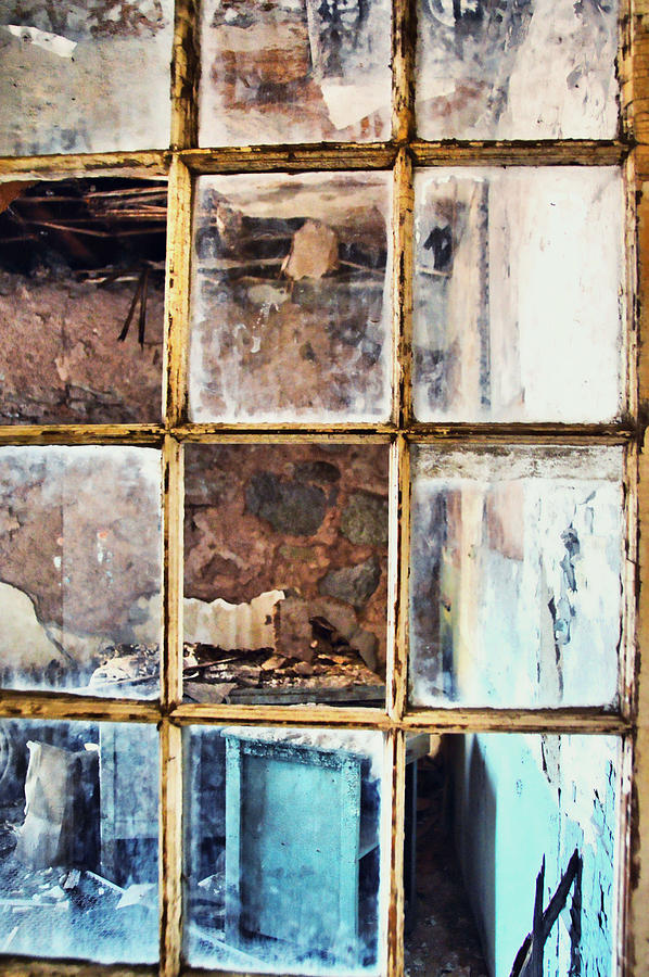 Eastern Photograph - Blue Window Panes  by JAMART Photography