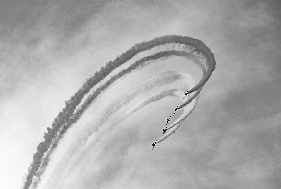 Red Arrows Photograph - Dramatic 2 by Angela Aird