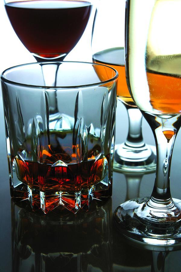 Glass Photograph - Drinks by Jun Pinzon