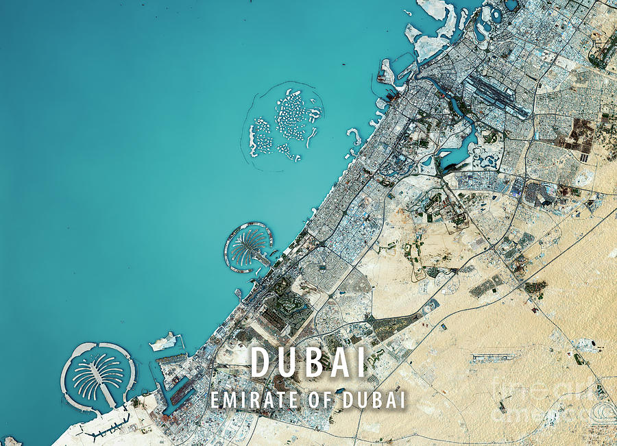 Dubai 3d render satellite view topographic map digital art by frank dubai digital art dubai 3d render satellite view topographic map by frank ramspott gumiabroncs Image collections