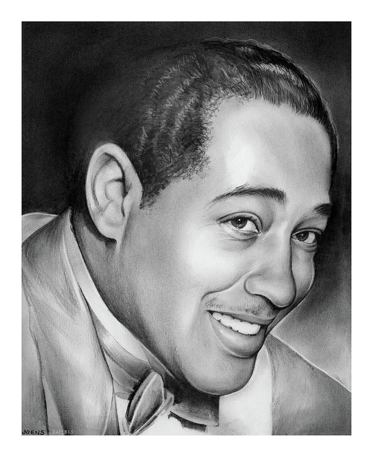 Jazz Drawing - Duke Ellington by Greg Joens