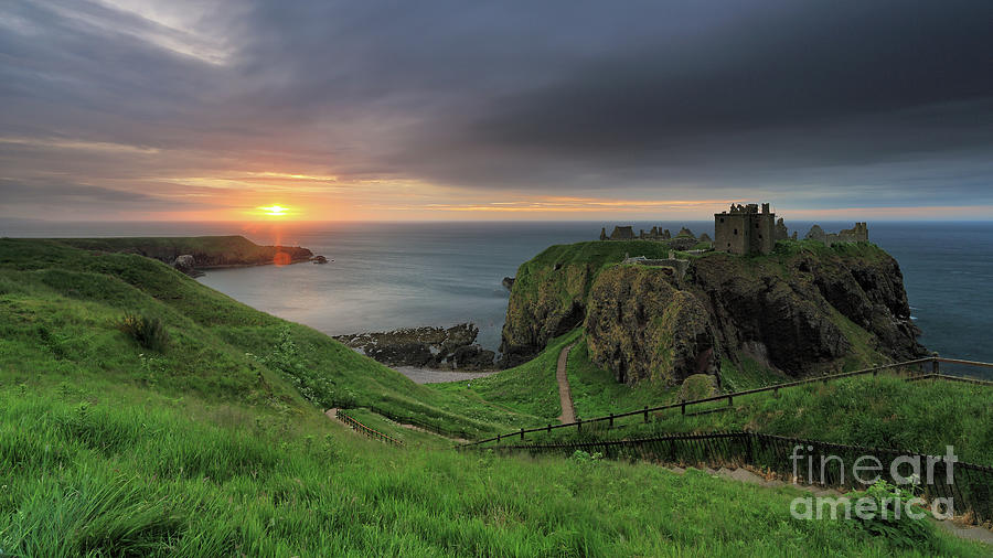 Dunnottar Castle at Sunrise by Maria Gaellman