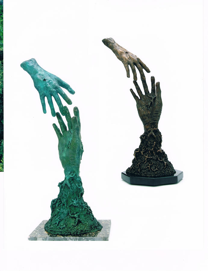 This Sculpture Is Available In Any Type Of Real Bronze Finish Sculpture - East To West by Barry K Snyder