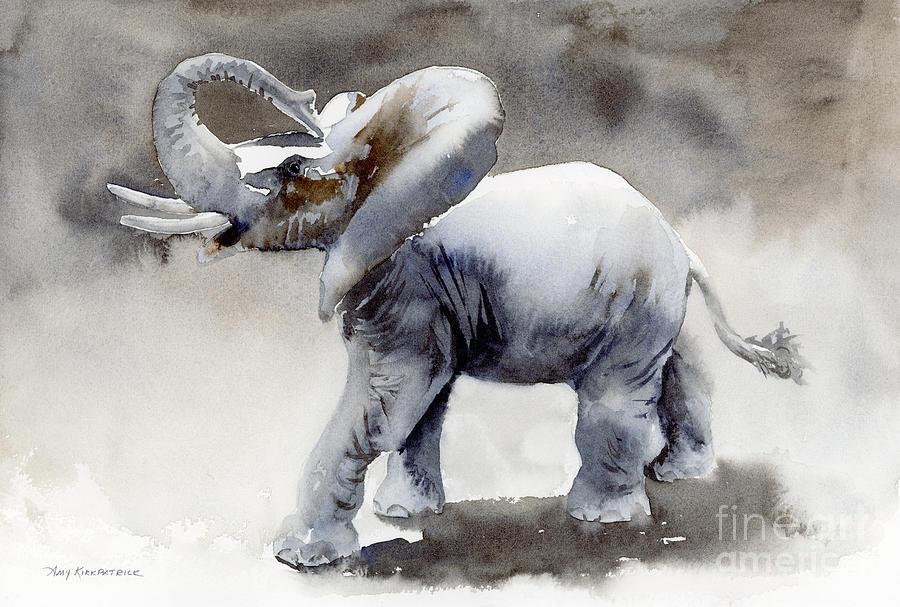 Elephant Light Study Painting