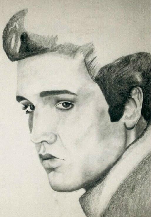 Elvis Presley Drawings Drawing - Elvis by Mikayla Ziegler