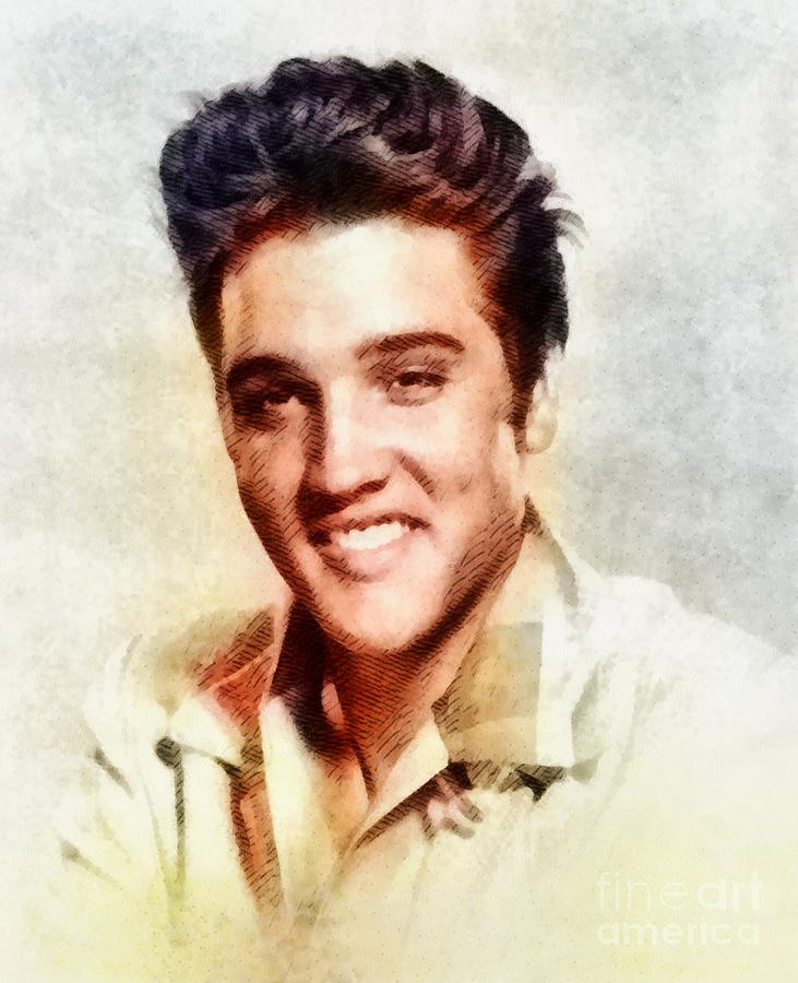 Elvis Presley, Music Legend Painting