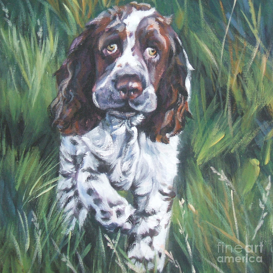 English Springer Spaniel Painting - English Springer Spaniel by Lee Ann Shepard