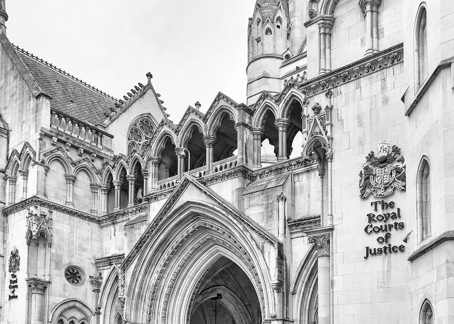 London Photograph - Entrance To Royal Courts Of Justice London by Shirley Mitchell