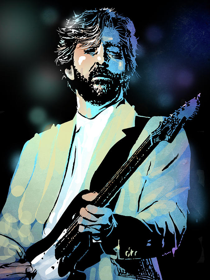 Blues Painting - Eric Clapton by Paul Sachtleben