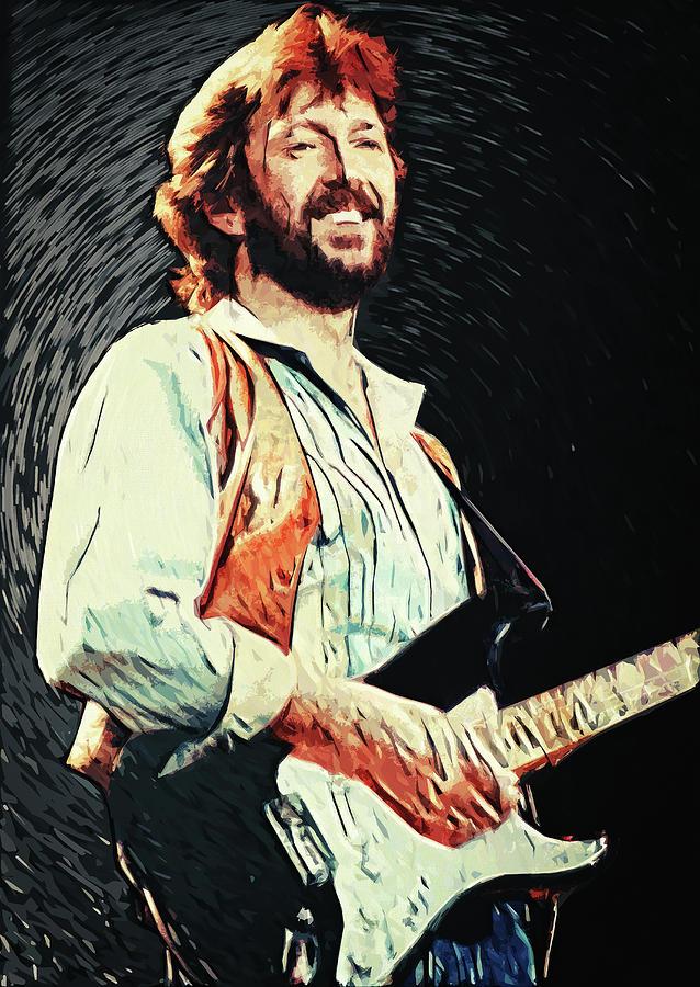 Eric Clapton Digital Art - Eric Clapton by Zapista OU