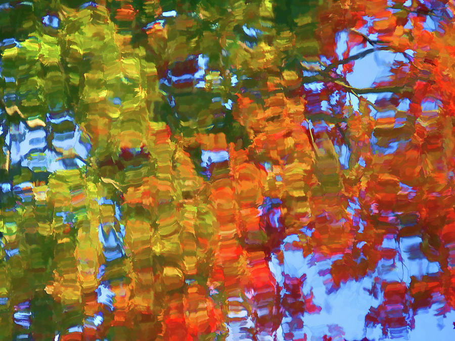 Leaf Painting - Perfect Lake by Lanjee Chee