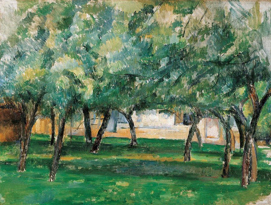 Cezanne Painting - Farm In Normandy  by Paul Cezanne