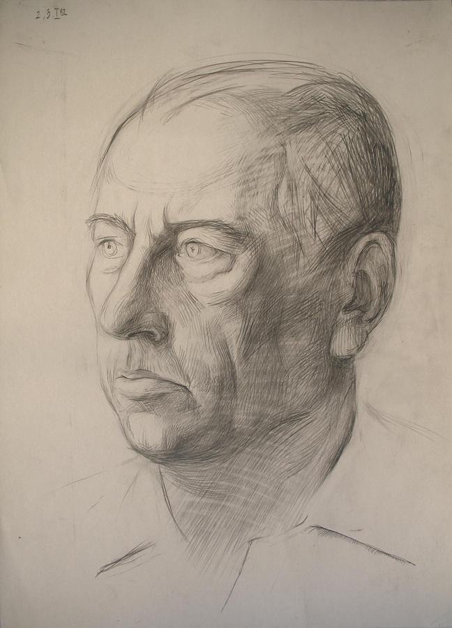 Pencil Drawing - Father by Yuri Yudaev