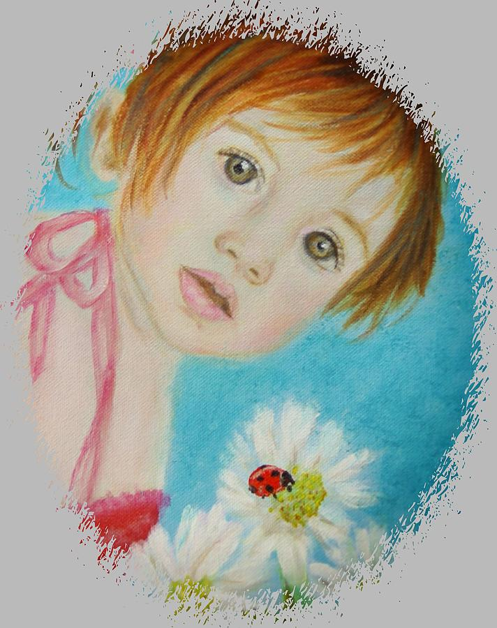 Angel Painting - Felisa Little Angel Of Happiness And Luck by The Art With A Heart By Charlotte Phillips