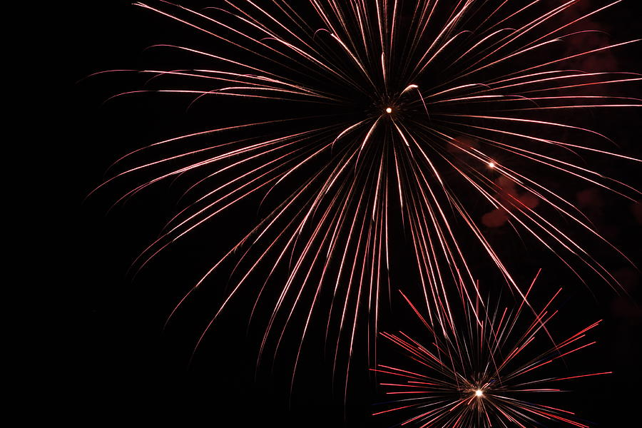 Fireworks Photograph - Fireworks by Chuck Bailey