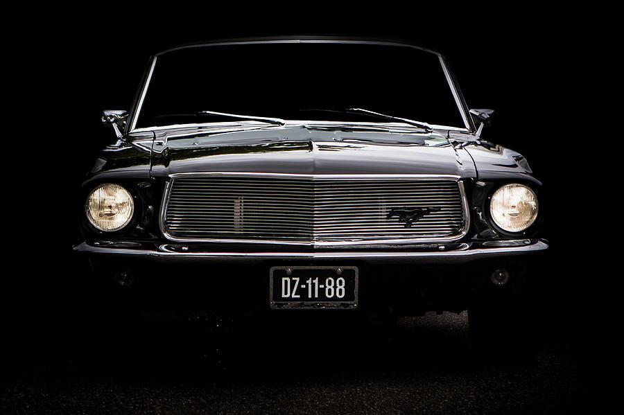 Ford Mustang Digital Art by Marco De Jonge