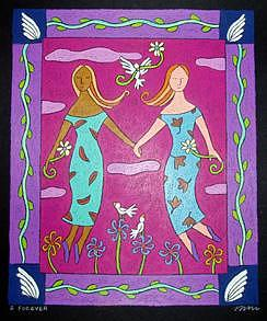 2 Forever Painting by Nancy  Coffelt