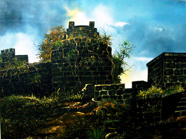 Fort Painting by Farooque Sha
