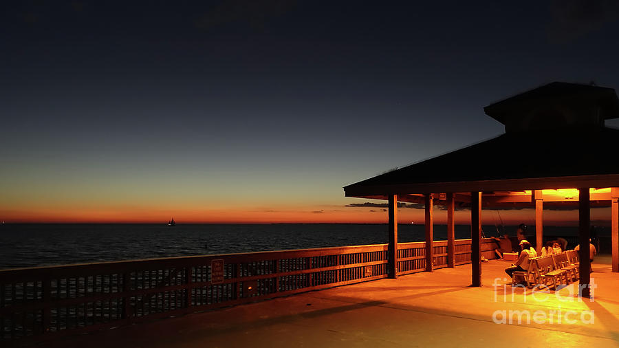 Florida Photograph - Fort Myers Beach Fishing Pier by Wendy Fielding