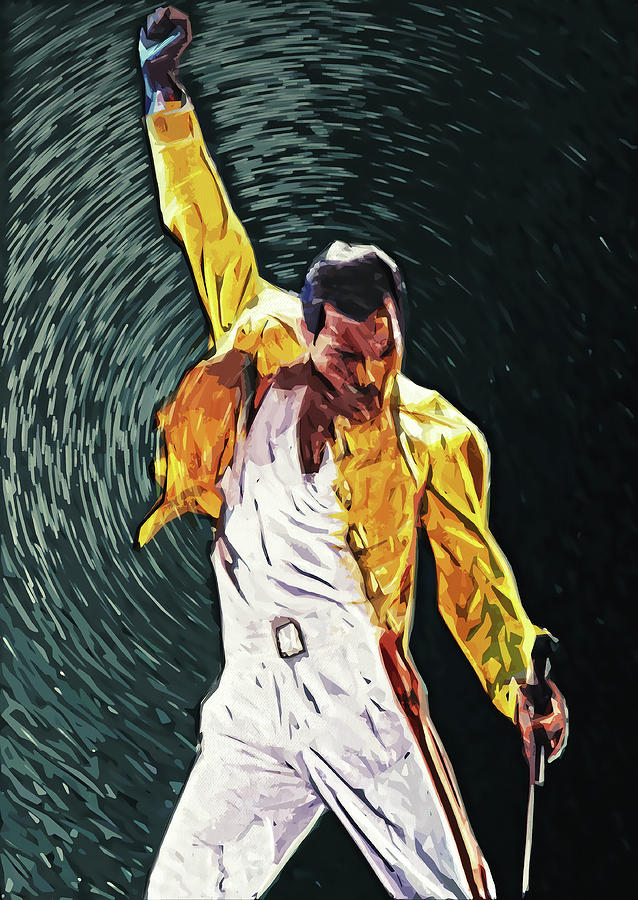 Queen Digital Art - Freddie Mercury by Zapista OU