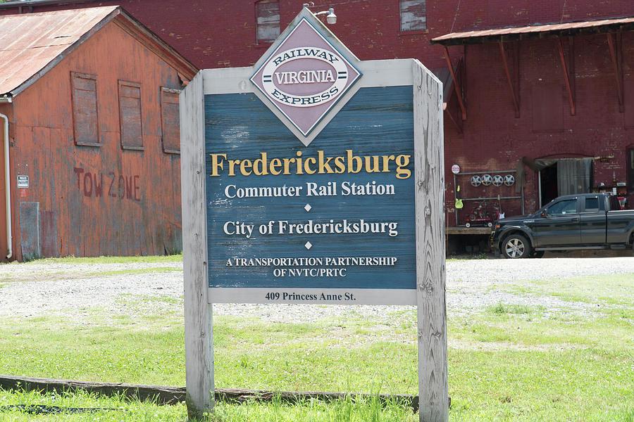 Fredericksburg Photograph - Fredericksburg Rail Station by Arthur English