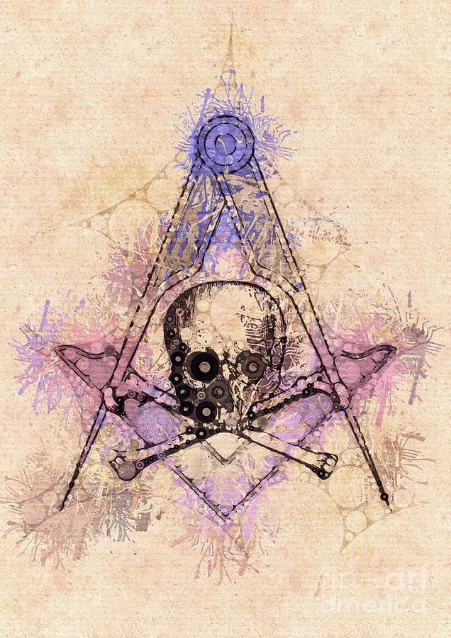 freemason mason masonic lodge symbol painting by